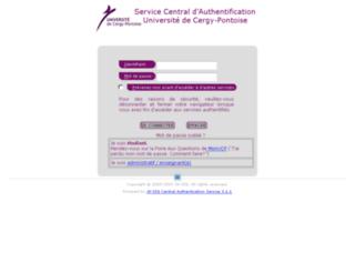auth.u-cergy.fr screenshot