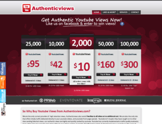 authenticviews.co screenshot