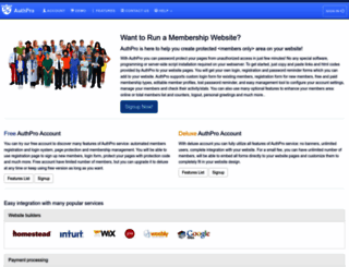 authpro.com screenshot