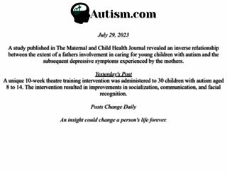 autism.com screenshot