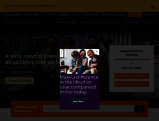 autism.kennedykrieger.org screenshot