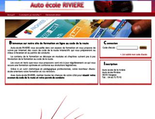 auto-ecole-rivere-vergeze.packweb2.com screenshot