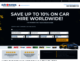 auto-europe.co.uk screenshot