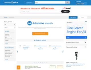 auto.manualsonline.com screenshot