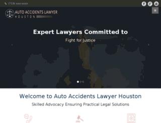 autoaccidentlawyerinhouston.com screenshot