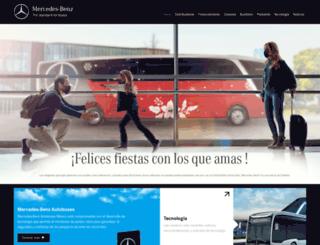 autobusesmercedesbenz.com.mx screenshot
