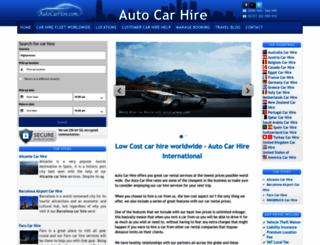 autocarhire.com screenshot