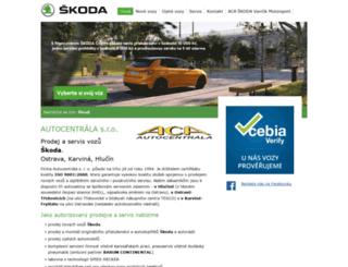 autocentrala.cz screenshot