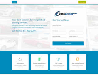 autoclassifiedsolutions.com screenshot