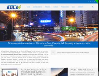 autoescuela-aula4.es screenshot