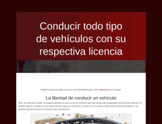 autoescuelasasociadas.org screenshot