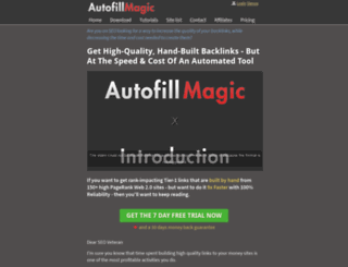 autofillmagic.com screenshot