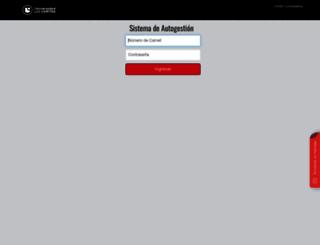 autogestion.veritas.cr screenshot