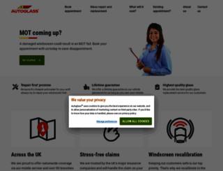 autoglass.co.uk screenshot