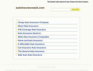 autoinsuranceask.com screenshot