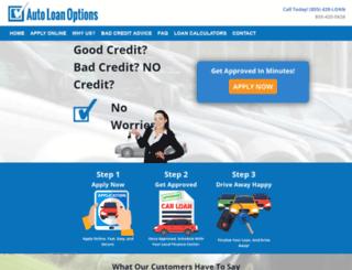 autoloanoptions.com screenshot