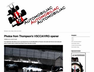 automobiliac.com screenshot