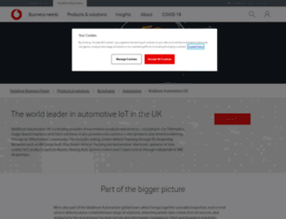 automotive.vodafone.co.uk screenshot