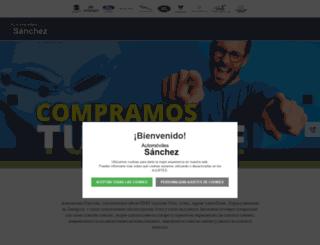 automovilessanchez.es screenshot