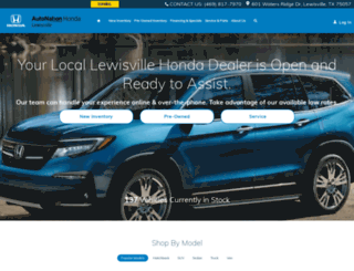 autonationhondalewisville.com screenshot