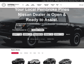 autonationnissanpembrokepines.com screenshot