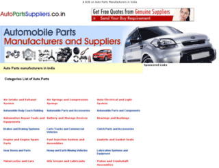 autopartssuppliers.co.in screenshot