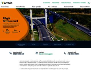 autopistaregis.com.br screenshot