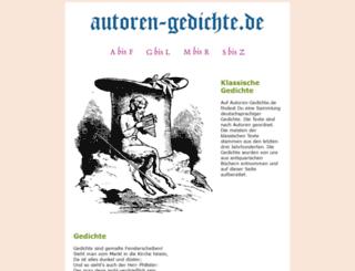 autoren-gedichte.de screenshot
