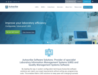 autoscribe.co.uk screenshot