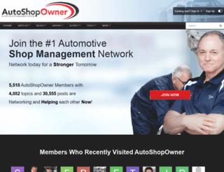 autoshopowner.com screenshot