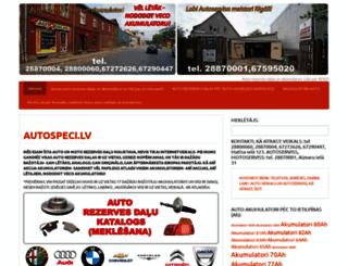 autospeci.lv screenshot