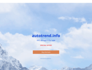 autotrend.info screenshot