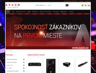 avaco.sk screenshot