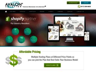 avalonsolution.com screenshot