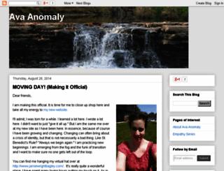 avanomaly.blogspot.com screenshot