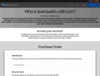 avanquest.u-bill.com screenshot