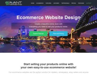 avantmarketing.com.au screenshot