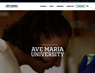 avemaria.edu screenshot