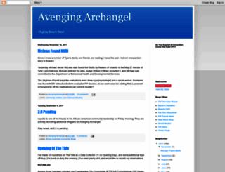 avengingarchangel.blogspot.com screenshot
