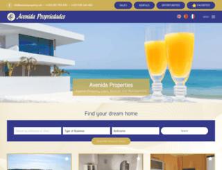 avenidaproperty.com screenshot