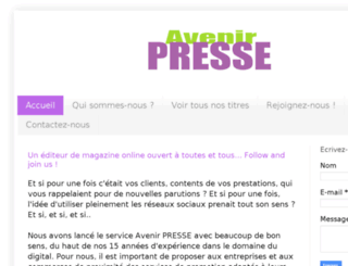 avenir-presse.com screenshot