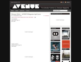 avenuemagazine.blogspot.com screenshot