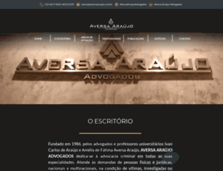 aversaaraujo.com.br screenshot
