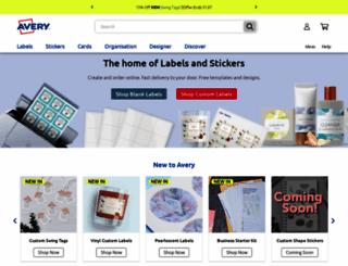 avery.co.uk screenshot