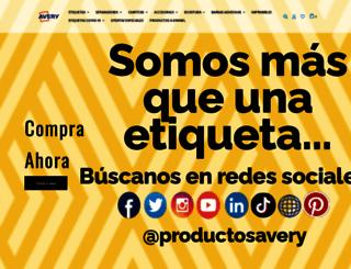 avery.com.mx screenshot