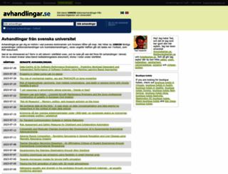 avhandlingar.se screenshot