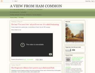 aviewfromhamcommon.blogspot.ca screenshot