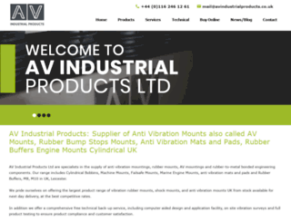 avindustrialproducts.co.uk screenshot