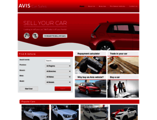 aviscarsales.co.za screenshot