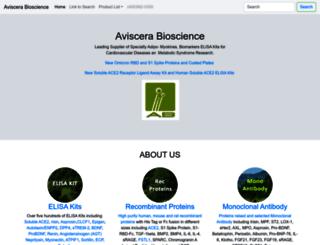 aviscerabioscience.com screenshot